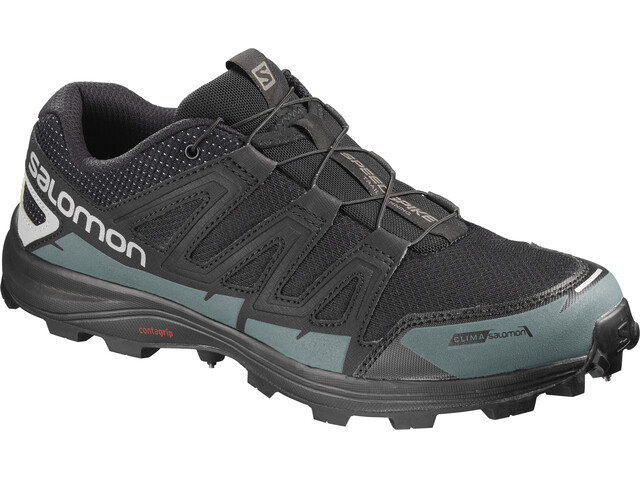 Salomon Speedspike CS Shoes Unisex Black/Reflective Silver/Mallard Blue